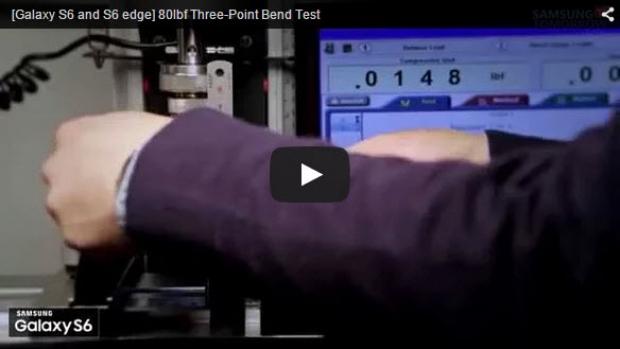 เมื่อ Samsung TEST งอเครื่อง Samsung Galaxy S6 Edge ด้วยตัวเอง (มีคลิป)