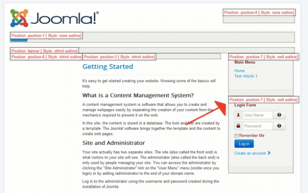 เทคนิคการแก้ไขโมดูล Position 7 ใน Joomla 3