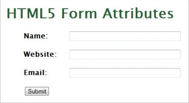 วิธีการใช้งานแอททิบิวต์ใหม่ๆ ของ Form ใน HTML5 เพิ่มความน่าสนใจยิ่งขึ้น