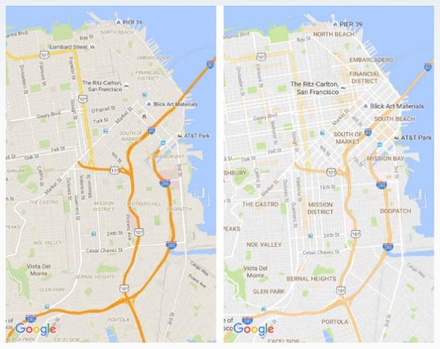 แผนที่ Google Maps ปรับปรุงใหม่ ดีไซน์ใหม่