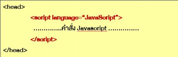 ตำแหน่งการเขียน JavaScript