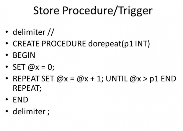 Stored Procedures และ Trigger ใน SQL คือ