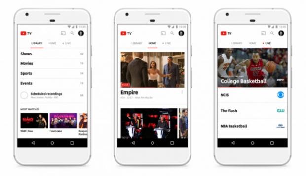 YouTube เปิดให้บริการใหม่ Live TV