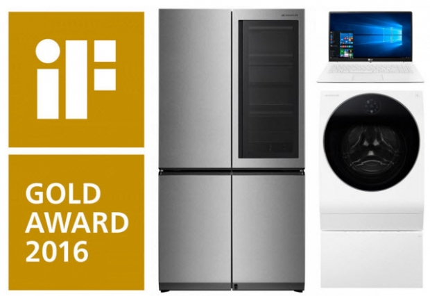 LG ยกทัพสินค้ากวาดรางวัลออกแบบผลิตภัณฑ์ยอดเยี่ยม
