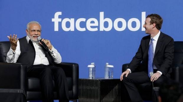 นายกฯ อินเดียเยือน สนง.เฟซบุ๊ก
