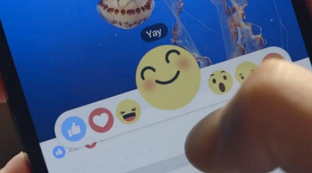 Facebook เพิ่มปุ่ม Reaction