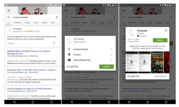ติดตั้งแอพฯ Android จากหน้าค้นหาผ่านแอพฯ Google