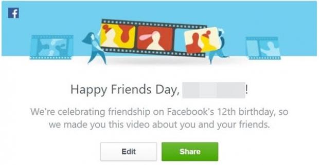 เฟซบุ๊กเพิ่มฟีเจอร์ Friends Day